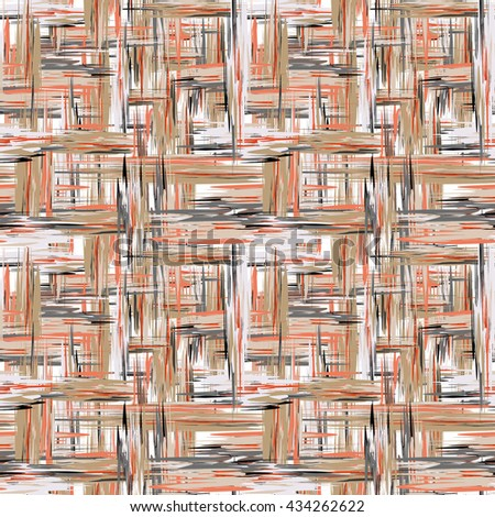 seamless pattern. Abstract background with brush strokes. Hand drawn texture in pastel brown - stock photo