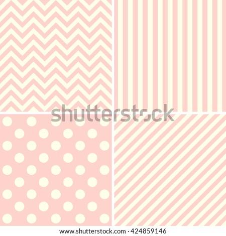 set of cute pastel background patterns.  - stock photo