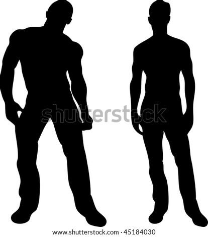 Sexy man sillhouette — 1