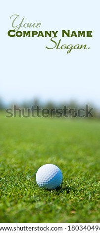 Shot of a golf course focused on a ball  - stock photo