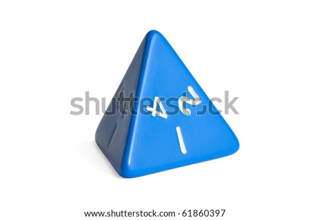4-sided dice - stock photo