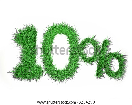 10% sign - stock photo