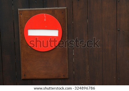 Sign for prohibited traffic in one direction                 - stock photo