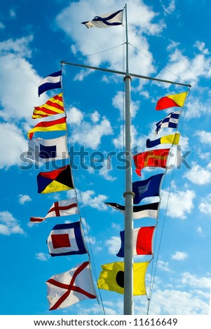 signal flags - stock photo