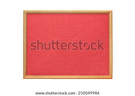 Signboard in a wooden frame isolated on white  - stock photo