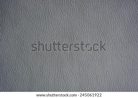 Silver Artificial Leather Background Texture Close-Up - stock photo