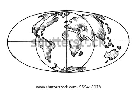 Sketch map world flat globe stylized stock illustration 555418078 sketch map of the world flat globe the stylized image of isolated gumiabroncs Gallery