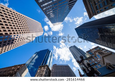 skyscraper view - stock photo