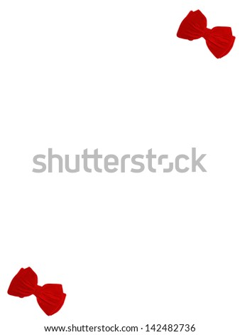 2 small bow ties card vertical - stock photo