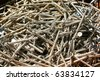 small rust screw as the background - stock photo