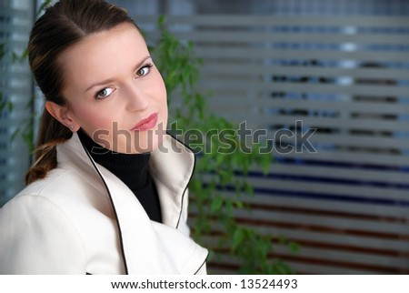 .smilling young businesswoman portrait