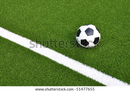 Soccer ball of the field