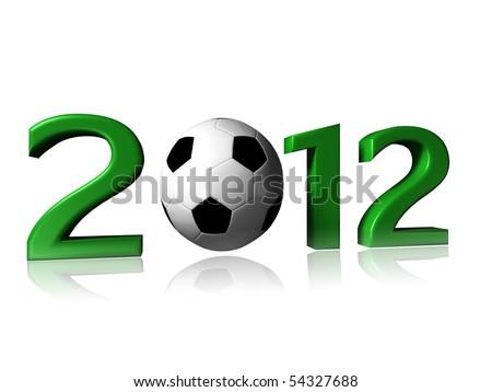 2012 soccer logo on a white background - stock photo