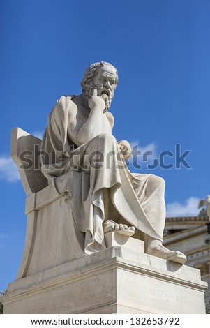 Socrates,a classical Greek Athenian philosopher - stock photo