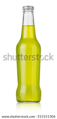 soda bottles, non-alcoholic drinks with clipping path - stock photo