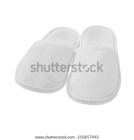 spa,  hotel - home slippers isolated - stock photo