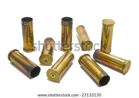 38 special shell casings - stock photo
