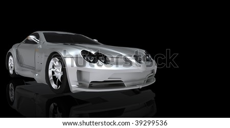 sports car close up - stock photo