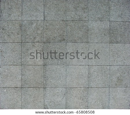 30 square pavement tiles in blue gray stone concrete - stock photo