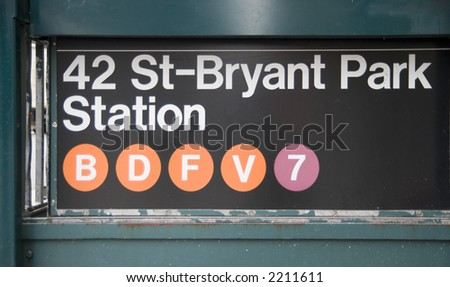 42 St-Bryant Park NYC - stock photo
