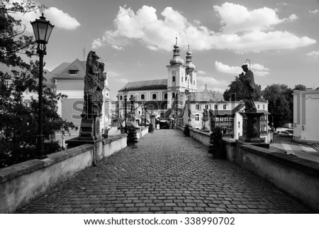 St. John Bridge in Klodzko. One of the most important monuments of the Lower Silesia - stock photo