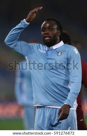 1.03.2017. Stadio Olimpico, Rome, Italy. Italy TIM CUP Football. Lazio vs Roma. Lukaku in action during the match.