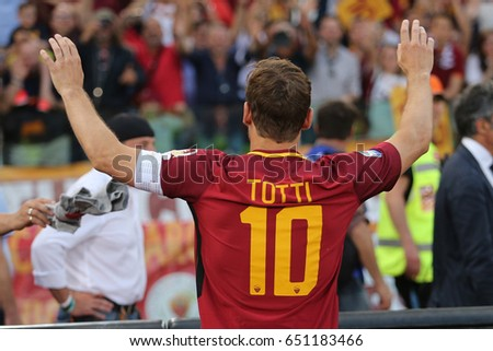 28.05.2017. Stadio Olimpico, Rome, Italy. Last match of Francesco Totti.