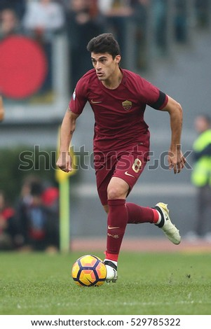 04.12.2016. Stadio Olimpico, Rome, Italy. Serie A Football. Lazio versus Roma.Perotti  in action during the match.