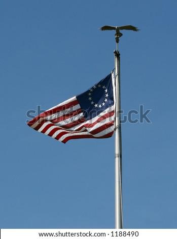 13 Star US Flag - stock photo