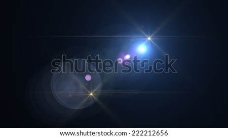 star with lens flare made in 3d software  - stock photo