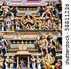 statue of Hindu god in vadapalani murugan temple, Chennai, India - stock photo
