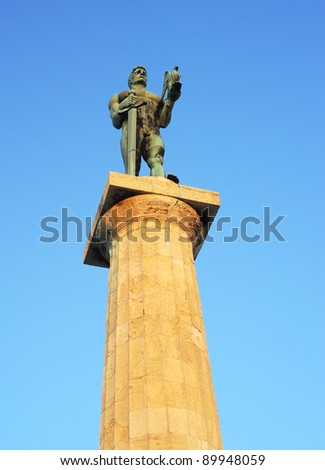 Statue of the Victor or Statue of Victory  is a monument in the Kalemegdan fortress in Belgrade, erected on 1928 to commemorate the Kingdom of Serbia's war victories over Ottoman Empire