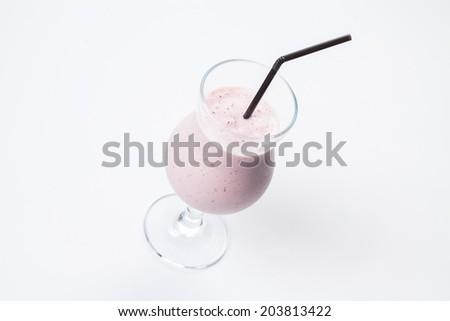 Strawberry milkshake - stock photo