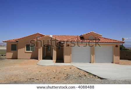 Southwestern Adobe Constructed Home Stock Photos Images