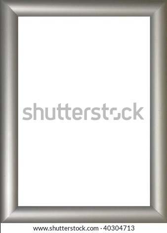 Stylish Silver Frame - stock photo