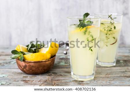 summer lemonade - stock photo