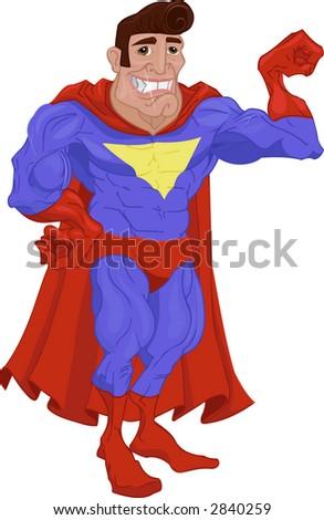 Super hero. Raster version - stock photo