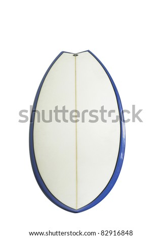 surf board with clipping path - stock photo