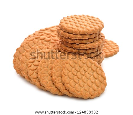 Sweet cookies isolated on a white background