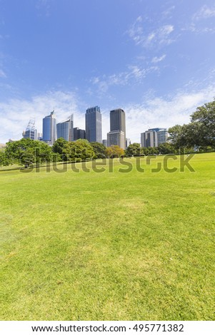 Sydney City, Botanical Garden City View