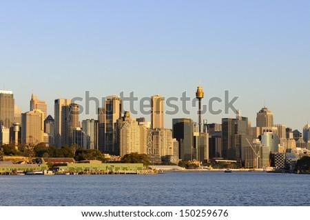 Sydney Skyline at Sunset - stock photo