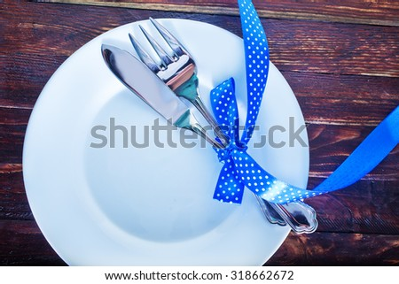 table place setting  - stock photo