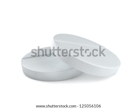 tablet 3d illustration isolated on the white background - stock photo