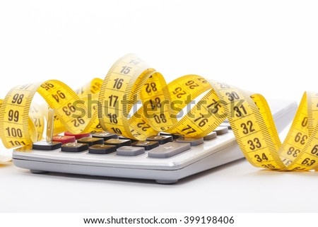 tailor measuring tape and calculator