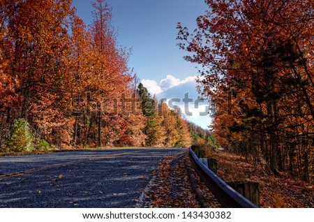 """Talimena Scenic Byway in the Fall"" - stock photo"