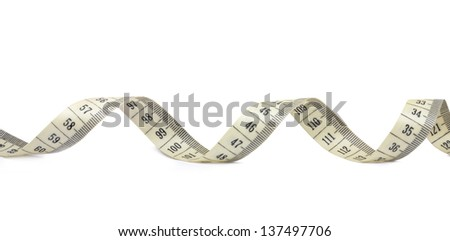 tape measuring isolated on a white background - stock photo