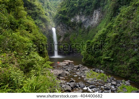 Tappia water falls near Batad rice terraces in Banaue - Philippines. - stock photo