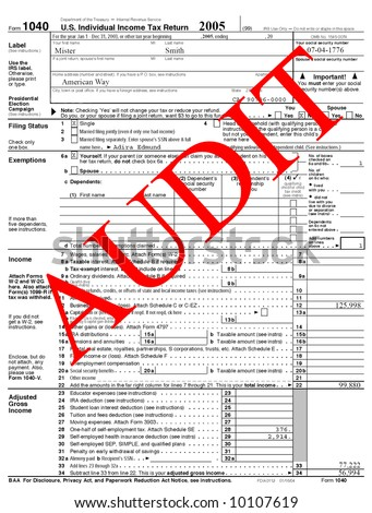 1040 tax form audit