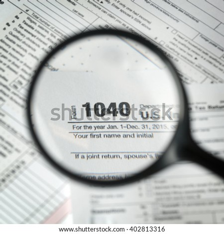 1040 tax form background - stock photo