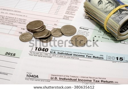 1040 tax form with us coin